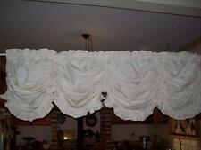 Cream Calico Austrian Balloon  Curtain 2.40m x 65cm (Can also be made WHITE)