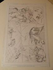 RED SONJA #36 PG #7 original art THROAT SLIT, STABBED, THROWN OVERBOARD 2008