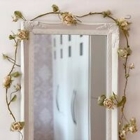 VINTAGE CREAM CHIC ROSE FLOWER GARLAND SHABBY CHIC WEDDING HOME DECORATION