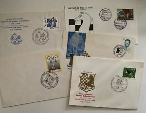 Chess FDC & Chess Cards - 37 Pcs.