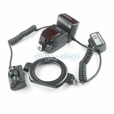 Yongnuo YN24EX Macro Flash Speedlite TTL 2pcs Flash Head With 4pcs Adapter Rings