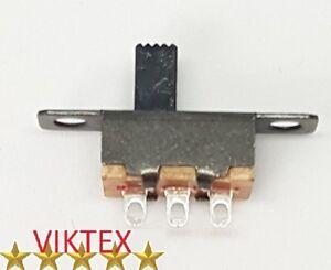 10x MINI SCHIEBESCHALTER MINIATUR 3 PIN 2 POSITIONEN MICRO 20X6MM 48V 0,5A