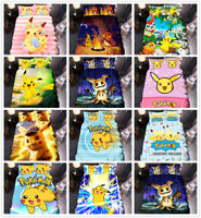 3D Pokemon Pikachu Mimikyu Kids Bedding Set Duvet/Quilt/Doona Cover Pillowcase