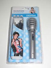 Micro Microphone GRUNDIG Microfoon 3db cable de 3 Mètre Connecteur 6,3 mm