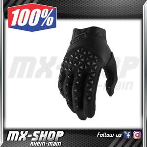 100% Handschuhe Airmatic schwarz Gr. L 10 MX Motocross MTB Enduro 100 % Prozent