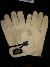 """""""BLOW OUT SALE"""" Soft Cowhide Beige Leather Drivers Gloves w/Ball String 1 Dozen."""