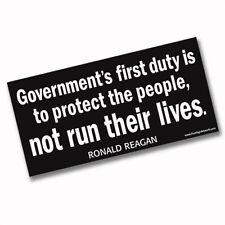 Bumper Sticker with Ronald Reagan Quote - for Donald Trump or Anti Obama
