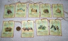 Vintage~French~Paris~Bird~Label~Linen Cardstock~Gift~Hang~Tags