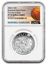 2020 S Basketball Hall of Fame Clad Half Dollar Proof Coin NGC PF70 FDI