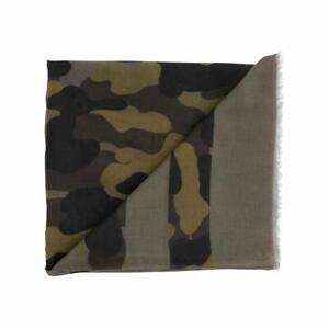 Mud Pie Womens Striped Camo Camouflage Womens Scarf Olive Green Color