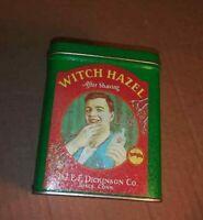 Vintage Dickinson's Witch Hazel After Shave Tin