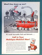 What'll They Dream Up Next Series 1955 Mobil Ad AUTO MAMOTHER MOLE POTATO DIGGER