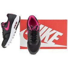 Nike Air Max 1 GS Junior Black/Vivid Pink/White Size: UK_5   EUR_38  807605 006