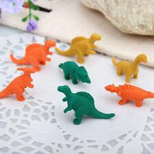 2 Set Mini klar Ellipsoid mit niedlich Dinosaurier Form Radiergummi Schreibwaren