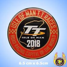 Isla De Man TT carreras de carretera competición capital del mundo 2018 gel insignia de la etiqueta engomada