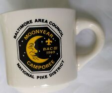 Vintage 1969 Boy Scout Mug Moon Year Baltimore Area Council Natl. Pike District