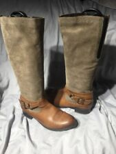 Remonte Estefania Leather Tall Boots-Women's size 38 Brown Harness Riding