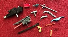 Vintage Lot of 12 Weapons Accessories Guns Safe Car Parts Fire Toys MOTU TMNT