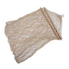 Amaca altalena bianca in corda di cotone appesa al portico o su una spiaggia HK