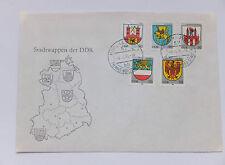 Ersttagsbrief - FDC - ETB - DDR - Stadtwappen - Nr. 2934 - 2938
