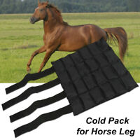 Horse Bandages Cold Pack Ice Padded Bag Cool Protect Horse Leg Wraps Tool  U