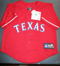 NWT $37 MAJESTIC TEXAS RANGERS RED MLB JERSEY KIDS - LARGE 7