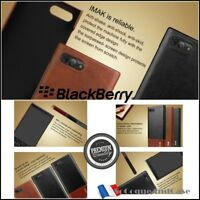 Etui Coque IMAK Antichocs Cuir PU Leather ShockproofCase Cover BlackBerry Key2
