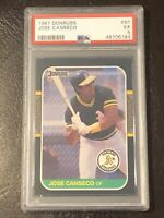 1987 Donruss Jose Canseco Card #97 PSA 5 EX Oakland Athletics