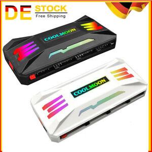 COOLMOON RGB Controller 4Pin PWM 5V 3Pin ARGB Fan PC Case Remote Control DE