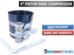 "Engine Piston Ring Ratchet Type Compressor Clamp 55mm-175mm Diam 3"" Depth CT2195"