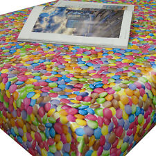 Smarties Sweets Party Design Tablecloth PVC Vinyl Wipe Clean Table Cover