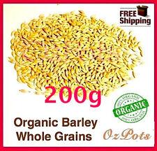 Barley Grass Seeds for Sprouting - 200g - Australian Organic / No heat treament