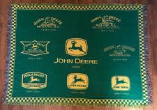 """John Deere Tractor Logo History 2000 Afghan Throw Blanket 66""""x49"""""""