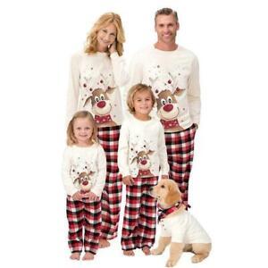 Family Matching Adult Kids Christmas Pyjamas Xmas Nightwear Festive PJs Set UK