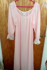 Amanda Rich luxurious Long-sleeve Ankle Length Nightgown Size L.