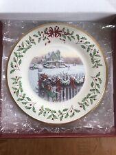 Lenox 2008 Annual Holiday Collector Plate Home For Christmas Ltd Ed - Box & Coa