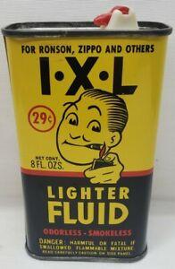 Vintage Advertising I X L LIGHTER FLUID 8 OZ  Handy Oiler Oil Tin Can No. 1594