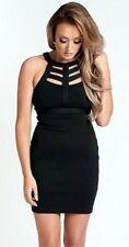 NOSTALGIA BY CHARLOTTE CAGED BODYCON DRESS BLACK  Size 16