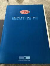 Bugatti EB 118 Katalog Prospekt Brochure Concept Pressemappe Chiron Divo Veyron