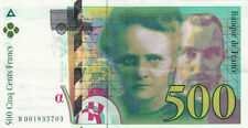 BILLET BANQUE 500 Frs pierre et marie CURIE 1994 SUP 703