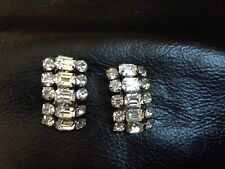 VINTAGE SWAROVSKY DETAIL EARRINGS CLIP GREAT CONDITION