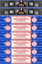 6 Box Nag Champa & 2 Box Super Hit Satya Sai Baba Incense 15Gram/Box 2017 Series