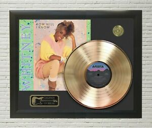 Whitney Houston How Will I Know Framed Legends Of Music Gold LP Record Display