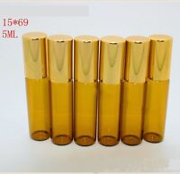 10 Pcs Lot Small 5ML Empty Perfume Roll On Class Roller  Ball Glass Bottle