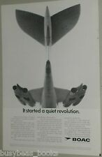 1967 BOAC advertisement Vickers VC10 airplane tail VC 10 British Overseas Airway