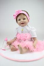 "22"" Handmade Lifelike Reborn Baby Soft Vinyl Baby Doll Girl doll/SHIP FROM US"