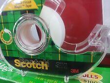 """((SIX PER ORDER)) SCOTCH 3-M MAGIC TAPE 3/4"""" x 850"""" ROLL REFILLS MADE IN USA"""