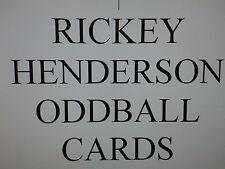 RICKEY HENDERSON  -  ODDBALL cards $0.99 each Oakland athletics