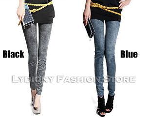 Trendy Women Skinny Slim Jeans/Denim Look Leggings Jeggings Stretch Tight Pants