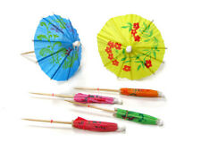 144 pcs Cocktail / Parasol / Umbrella / Luau Party Tooth Picks PC-PAR Update